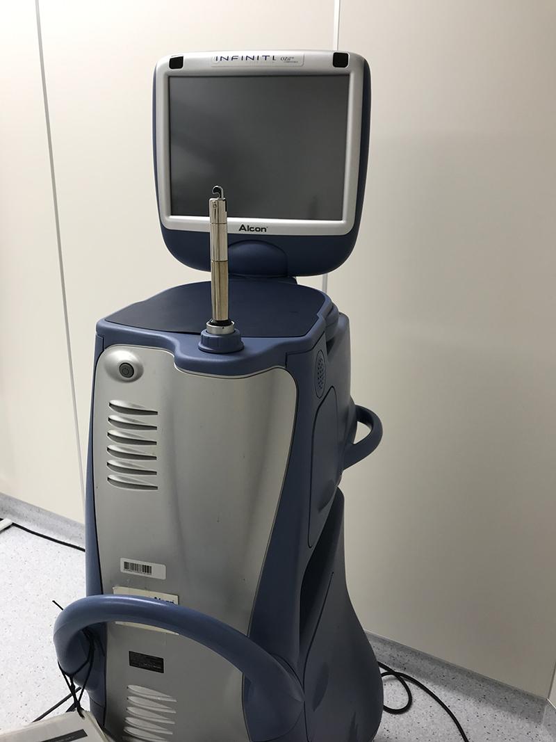 最新の超音波白内障手術装置